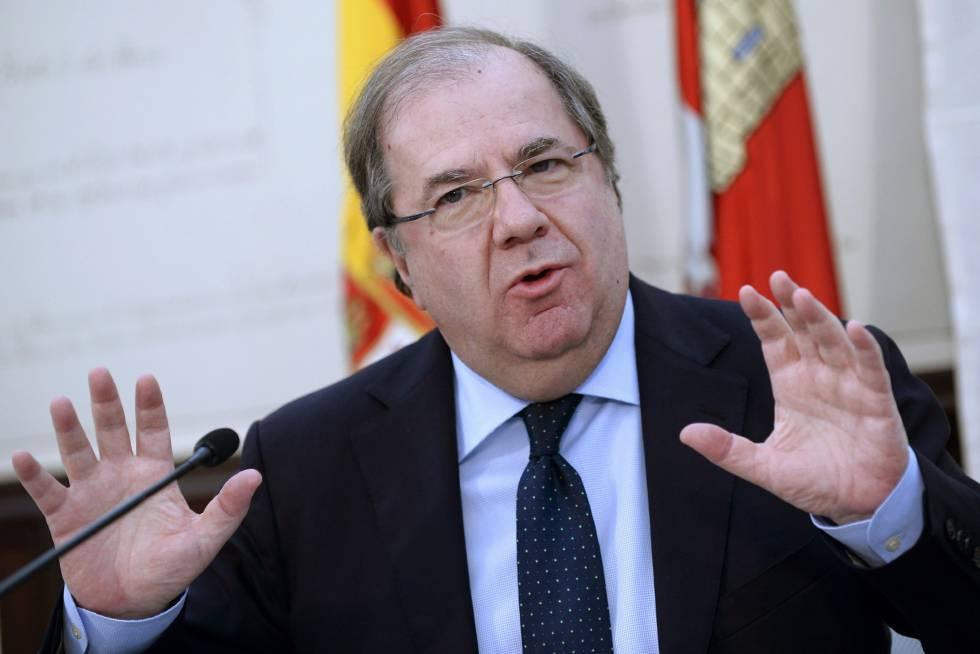 El presidente de la Junta y del PP de Castilla y León, Juan Vicente Herrera, en una comparecencia el pasado 10 de marzo.
