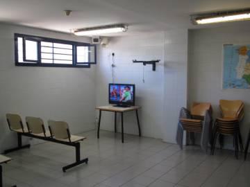 Sala de ocio del CIE de Tenerife.