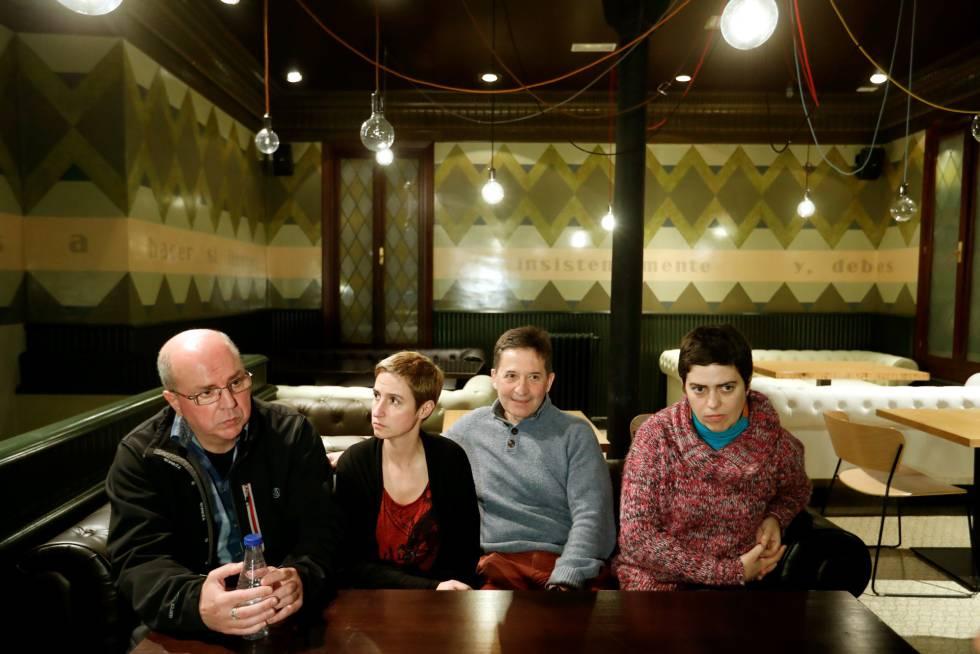 Josu Amantes, Maritxu Jiménez (psicóloga), Fernando Etxegarai y Oihana Garmendia.