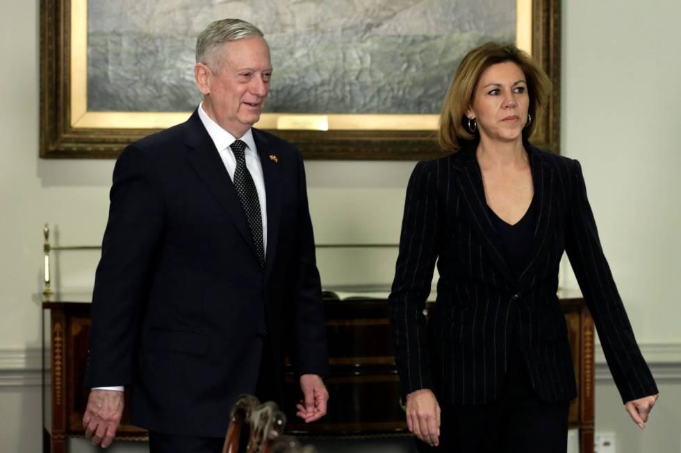 Mattis y Cospedal, este jueves en el Pentágono