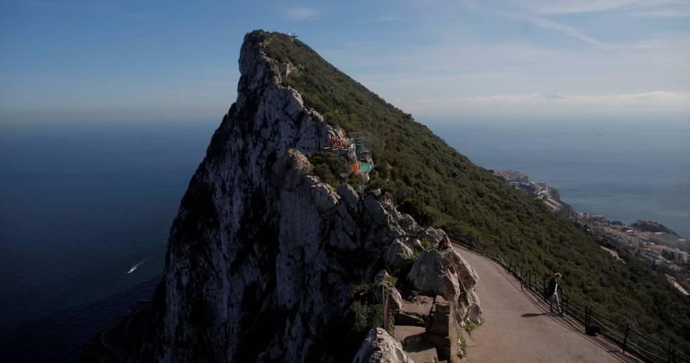 Turistas en el Peñón de Gibraltar.