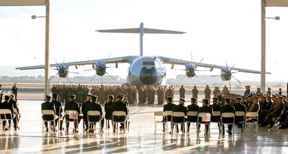 El primer avión de transporte militar Airbus A400M adquirido por España.