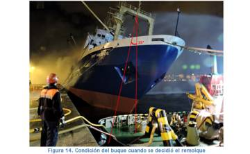 Foto incluida en el informe de la comisión CIAIM sobre el accidente.
