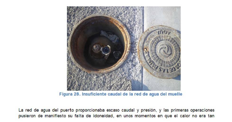 Imagen de una página del informe de los técnicos de la CIAIM.