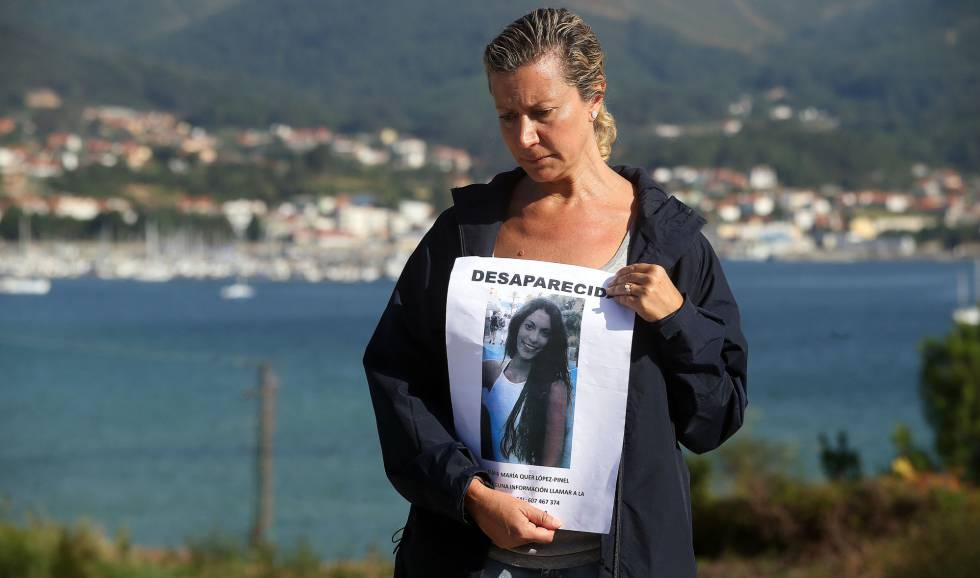 Diana Quer's mother, a few days after her disappearance.