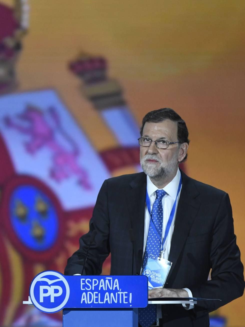 Mariano Rajoy el pasado enero en la ceremonia de clausura del congreso del PP, en Madrid.