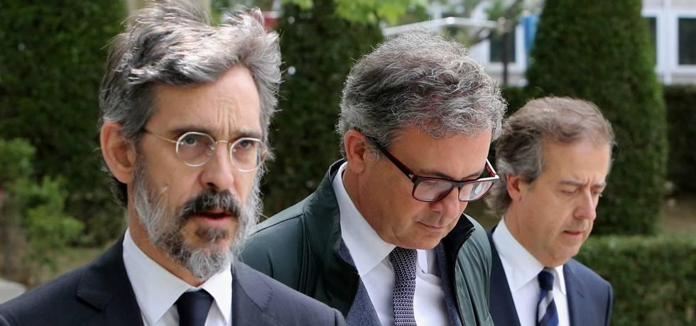 Jordi Pujol Ferrusola a su llegada este martes para declarar en la Audiencia Nacional.