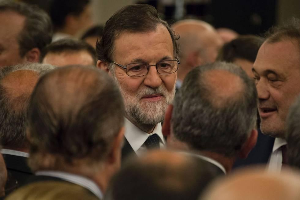 Rajoy, este martes, en Montevideo.