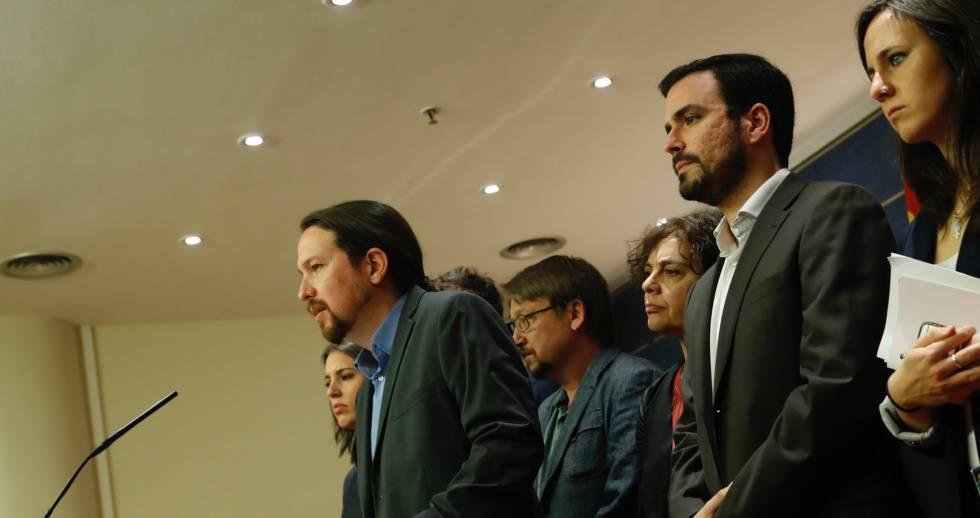 Podemos anuncia una moción de censura contra el gobierno del PP.