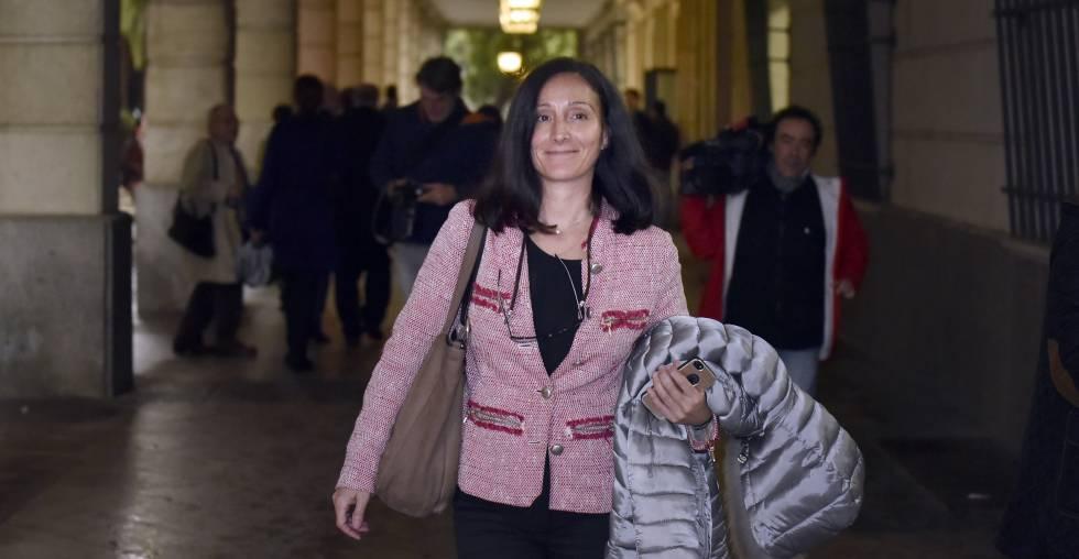 La juez María Núñez, en los juzgados sevillanos