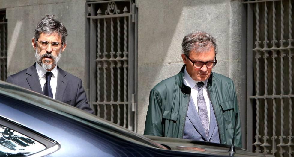 Jordi Pujol Ferrusola a su llegada para declarar en la Audiencia Nacional.rn