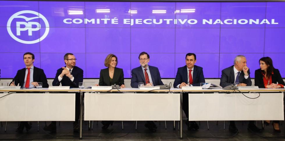 Comité Ejecutivo Nacional del Partido Popular en Génova.