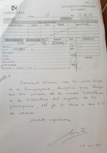 """Marta Ferrusola: """"Soy la madre superiora de la Congregación, traspasa dos misales"""""""