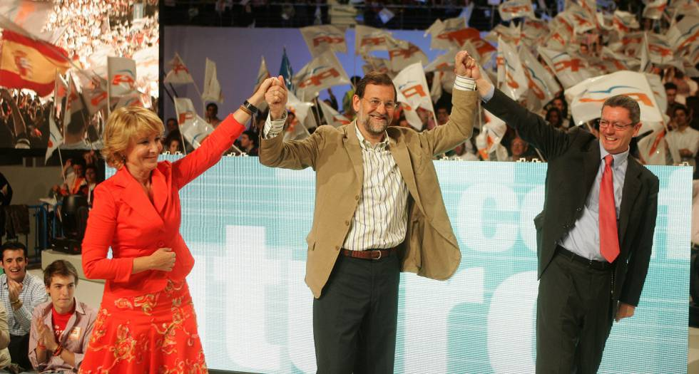Mitin de cierre de campaña de 2007 del PP en el Palacio de los Deportes de Madrid.