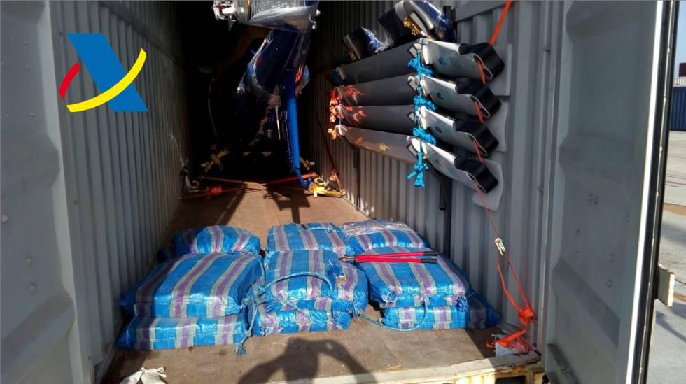 Imagen de las bolsas de cocaína decomisadas en el Puerto de Algeciras.