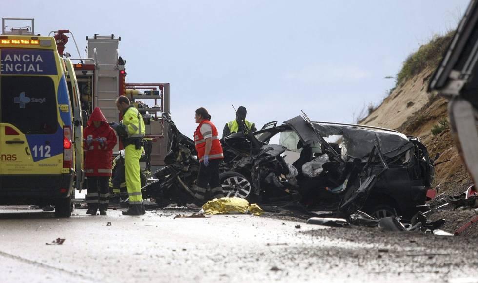 Un accidente de tráfico en el que dos personas perdieron la vida en la provincia de Soria en 2014.