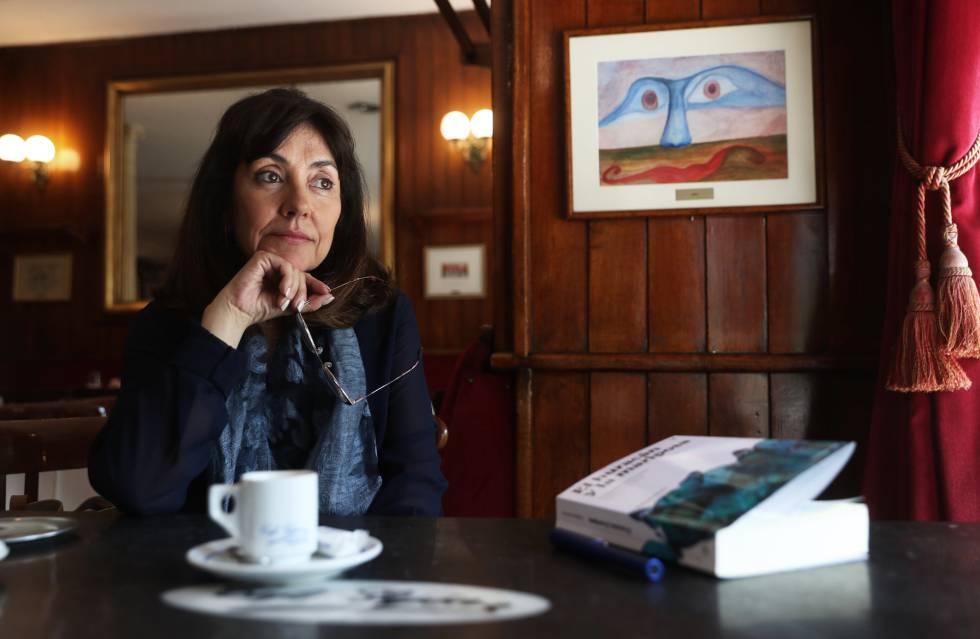 Yolanda Guerrero, en el café Gijón de Madrid.