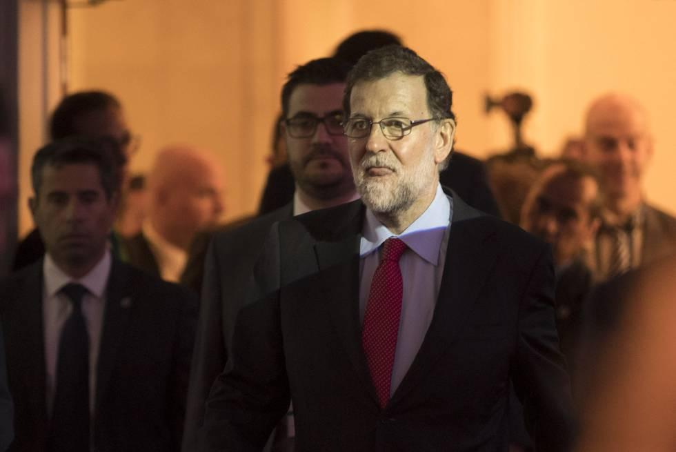 Mariano Rajoy en un encuentro del Circulo de Economía.