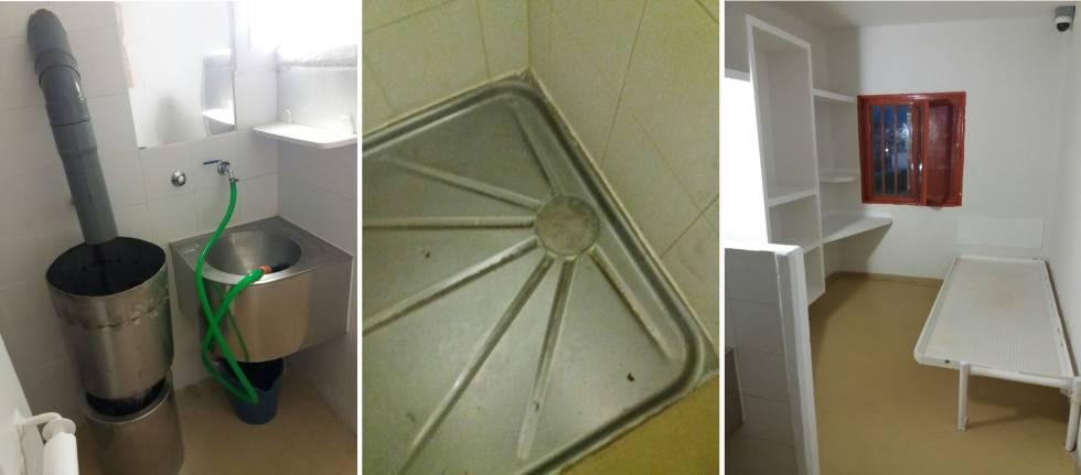 Imágenes de la celda 61 de la cárcel de Palencia.