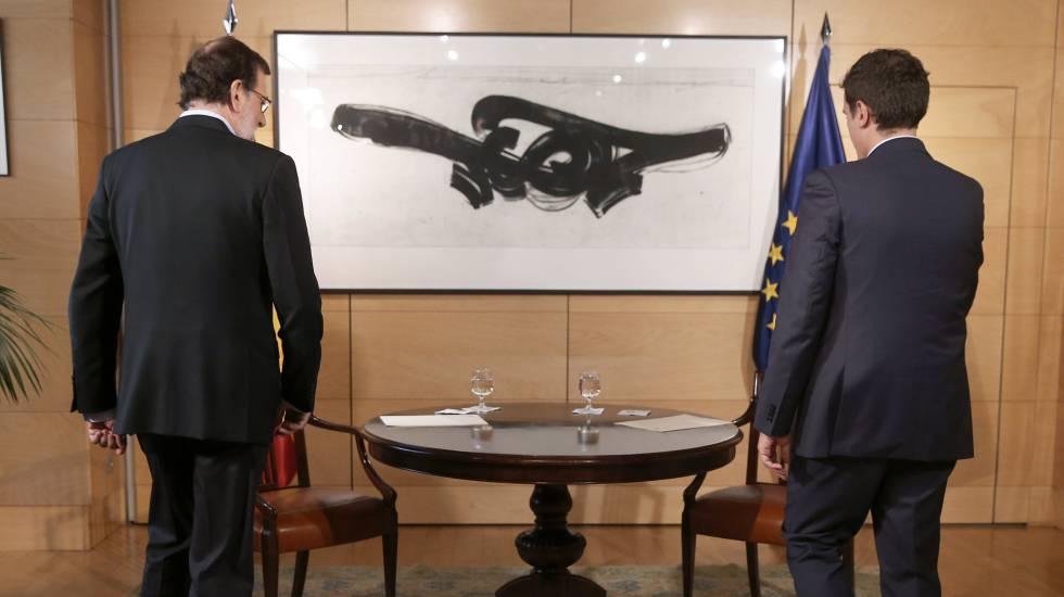 Reunion de Mariano Rajoy y Albert Rivera.
