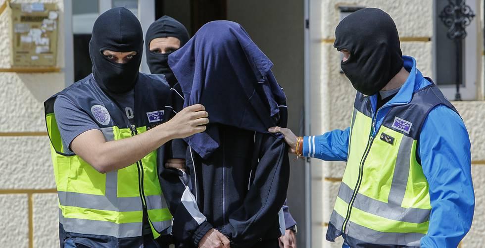Detención de un presunto yihadista el pasado mes de marzo.