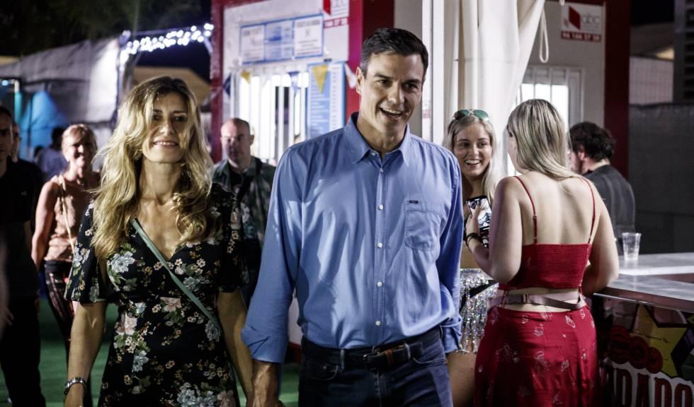 Pedro Sánchez visita el FIB para ver a The Killers