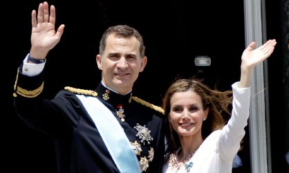 Spain's King Felipe VI and Queen Latizia