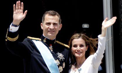 Spain's King Felipe VI and Queen Latizia