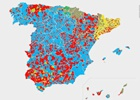 Radiografía política de España, municipio a municipio