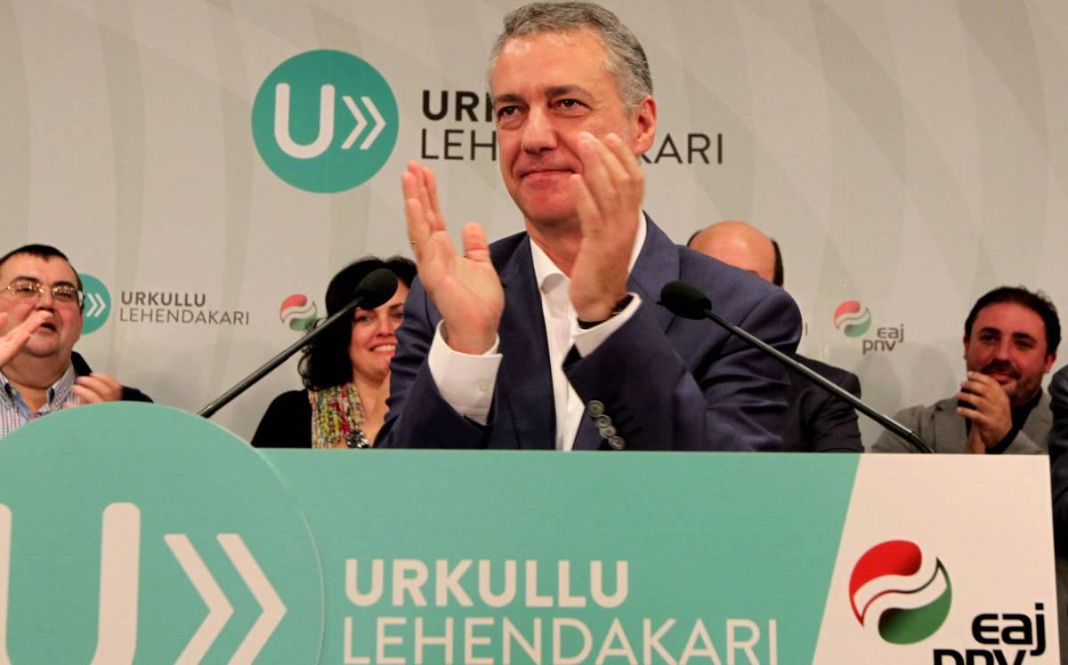 Iñigo Urkullu, tras conocer el resultado de la votación.