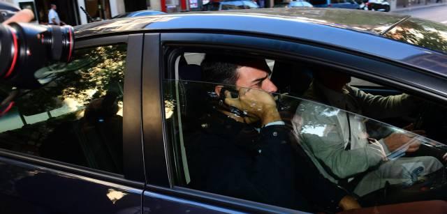 Pedro Sánchez, a su llegada a la sede del PSOE en Ferraz, este jueves.