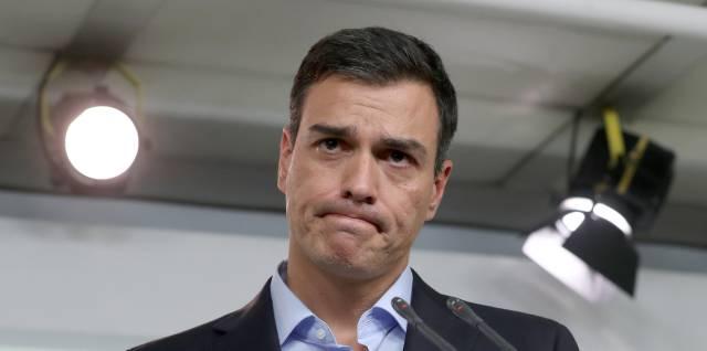 Rueda de prensa de Pedro Sanchez tras la reunion de la Comisión Permanente del PSOE.