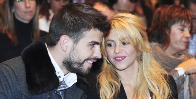 Gerard Piqué y Shakira, en Barcelona, en 2011.