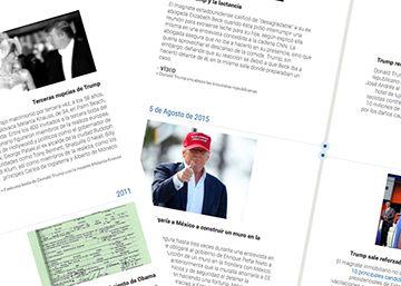 CRONOLOGÍA   Donald Trump, un relato de ruido y furia