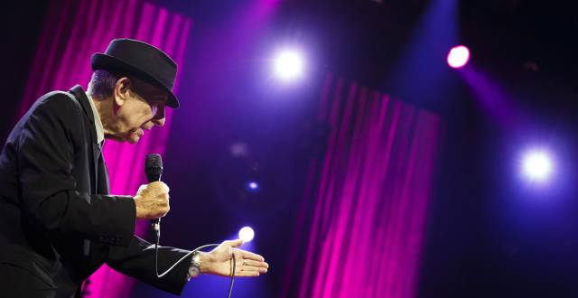 Canadian singer-songwriter Leonard Cohen performs during the first night of the 47th Montreux Jazz Festival in Montreux, Switzerland on July 4, 2013. REUTERSValentin FlauraudFile Photo