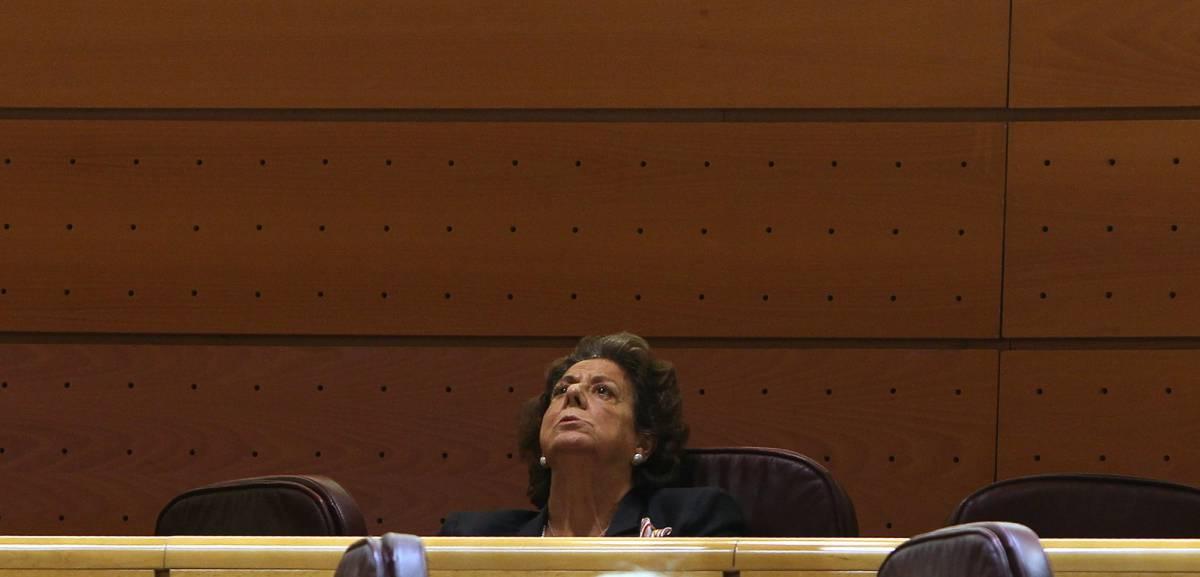 26-09-16. (DVD 809). Rita Barbera durante el pleno del Senado. ©Jaime Villanueva