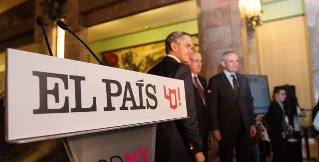 EL PAÍS inaugura la exposición '40 años de periodismo global' en el Palacio de Bellas Artes de México