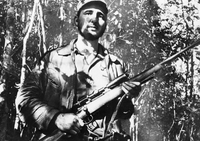 Fidel Castro, en una localización sin identificar en Cuba, el 26 de febrero de 1957.