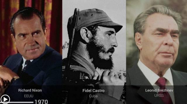Líderes de EE UU y Rusia que han convivido con Castro