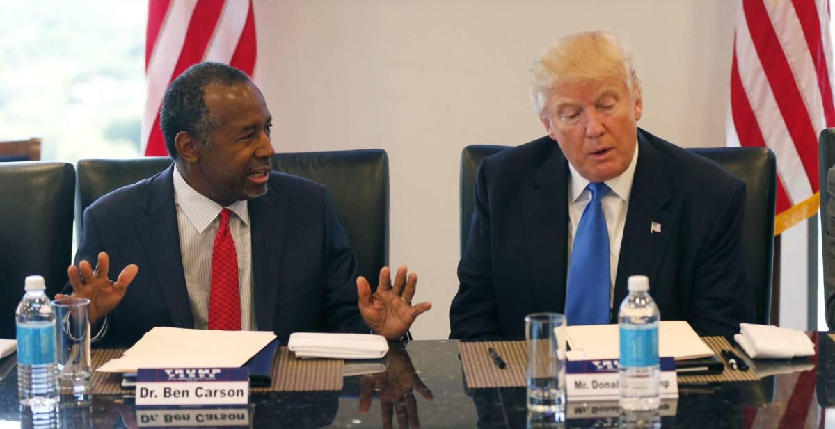 Carson y Trump, en una reunión el pasado agosto