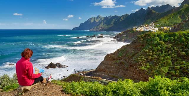 La costa de Taganana, en Almáciga (Tenerife).