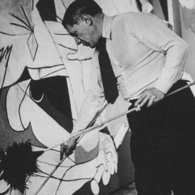 Picasso, fotografiado por Dora Maar.