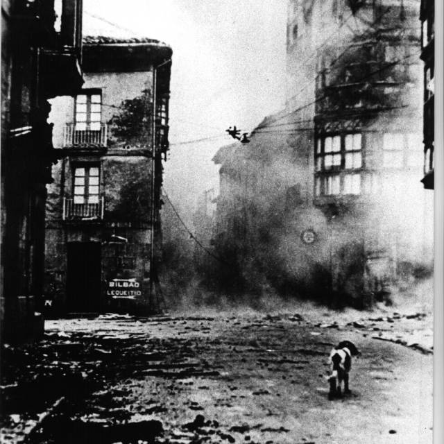 Gernika, bombardeada en 1937.