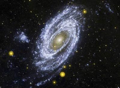 La galaxia M81 fotografiada por el 'Galaxy Evolution Explorer'.