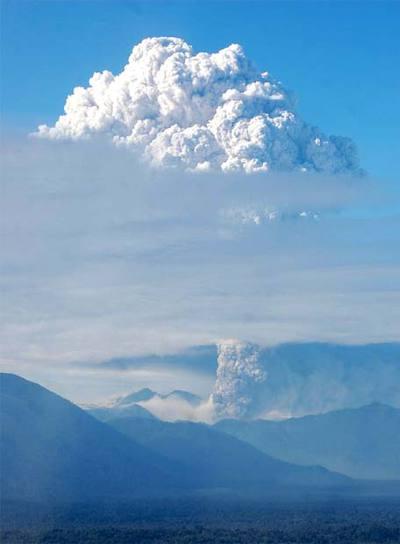 Imagen del volcán Chaitén.