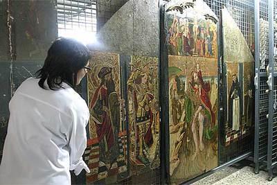 Sant Cristòfol,  del siglo XV, una de las obras reclamadas por el obispado de Barbastro.
