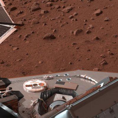 Imagen del suelo de Marte captada por la sonda Phoenix de la NASA