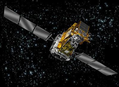 Ilustración del telescopio de rayos gamma de la Agencia Europea del Espacio, INTEGRAL.