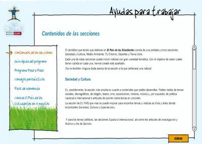 Las secciones de un peri dico sociedad el pa s for Cuales son las partes de un periodico mural