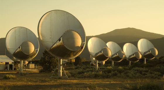 Instalación en California del proyecto SETI que intenta captar señales de civilizaciones extraterr